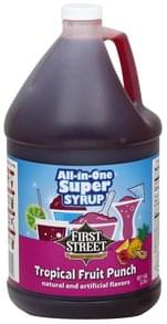 First Street All-In-One Super Syrup Tropical Fruit Punch