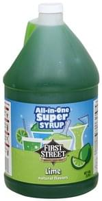 First Street Syrup Super, All-in-One, Lime