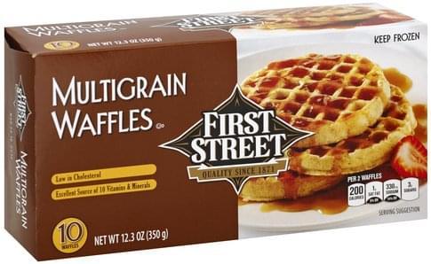 First Street Multigrain Waffles - 10 ea