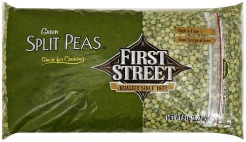 First Street Green Split Peas - 5 lb