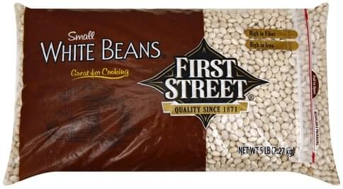 First Street Small White Beans - 5 lb