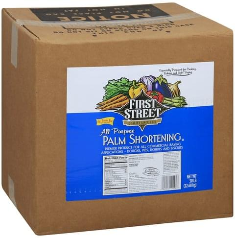 First Street All Purpose Palm Shortening - 50 lb