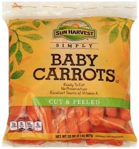 Sun Harvest Baby Carrots Cut & Peeled