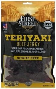 First Street Beef Jerky Teriyaki