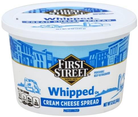 First Street Whipped Cream Cheese Spread - 12 oz