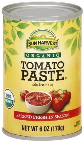 Sun Harvest Organic Tomato Paste - 6 oz