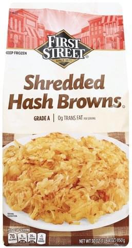 First Street Shredded Hash Browns - 30 oz