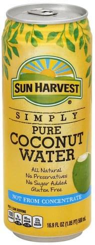 Sun Harvest Pure Coconut Water - 16.9 oz