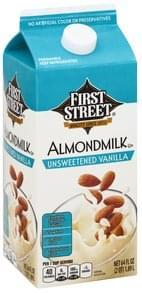 First Street Almondmilk Unsweetened Vanilla