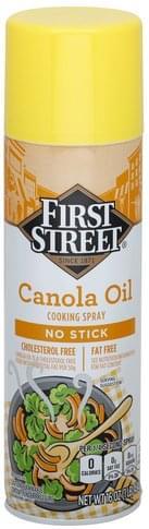 First Street Cooking Spray, No Stick Canola Oil - 16 oz