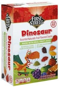 First Street Fruit Flavored Snacks Dinosaur, Assorted
