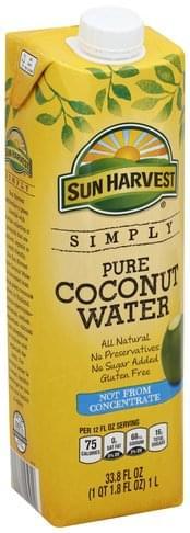 Sun Harvest Pure Coconut Water - 33.8 oz