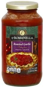 La Romanella Pasta Sauce Premium, Roasted Garlic