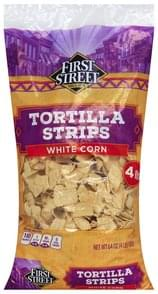 First Street Tortilla Strips White Corn