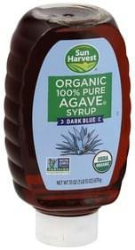 SUN HARVEST Agave Syrup Organic, 100% Pure, Dark Blue