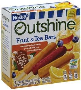 Outshine Fruit & Tea Ice Bars Assorted