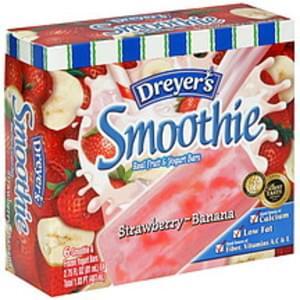 Edys Real Fruit & Yogurt Bars Strawberry-Banana