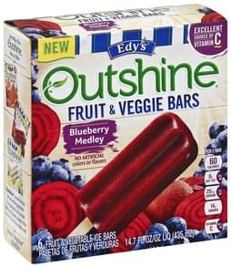 Edys Fruit & Veggie Bars Blueberry Medley