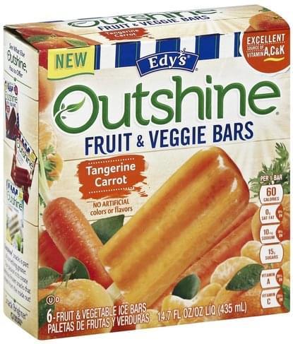 Edys Tangerine Carrot Fruit & Veggie Bars - 6 ea