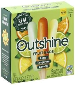 Outshine Fruit Bars Lime, Tangerine, Lemon