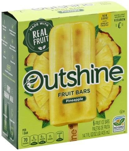 Outshine Pineapple Fruit Bars - 6 ea