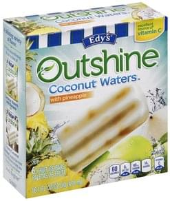 Edys Fruit Ice Bars Coconut Waters with Pineapple