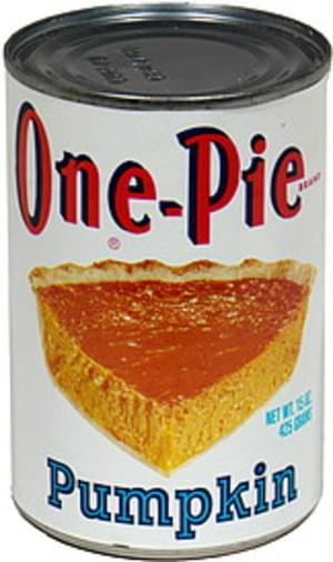 One Pie Pumpkin - 15 oz