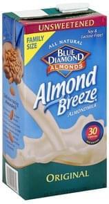 Blue Diamond Almondmilk Original, Unsweetened, Family Size