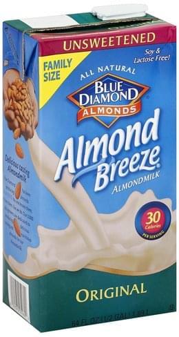 Blue Diamond Original, Unsweetened, Family Size Almondmilk - 64 oz