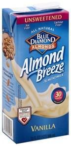 Blue Diamond Almondmilk Vanilla, Unsweetened