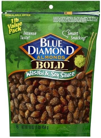 Blue Diamond Wasabi & Soy Sauce, 1 lb