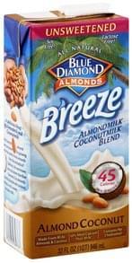 Blue Diamond Almondmilk Coconutmilk Blend Almond Coconut, Unsweetened