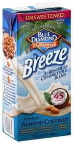 Blue Diamond Almondmilk Coconutmilk Blend Almondmilk Coconut Milk Blend, Vanilla Almond Coconut, Unsweetened