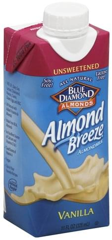 Blue Diamond Unsweetened, Vanilla Almond Milk - 11 oz