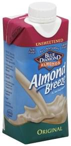 Blue Diamond Almond Milk Unsweetened, Original