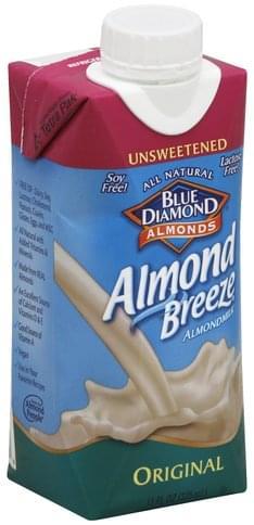 Blue Diamond Unsweetened, Original Almond Milk - 11 oz
