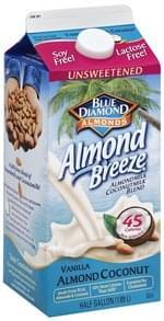 Blue Diamond Almondmilk Coconutmilk Blend Unsweetened, Vanilla Almond Coconut