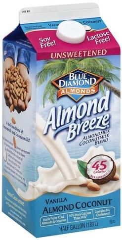 Blue Diamond Unsweetened, Vanilla Almond Coconut Almondmilk Coconutmilk Blend - 0.5 gl