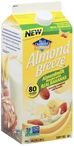 Blue Diamond Blended with Real Bananas Almondmilk - 0.5 gl