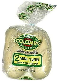 Colombo Brown N' Serve Mini-Twin Sour French Bread