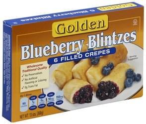 Golden Blintzes Blueberry