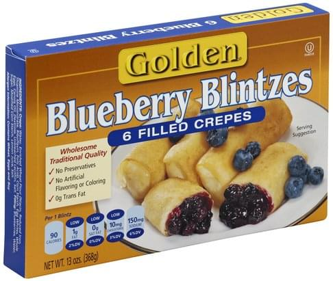 Golden Blueberry Blintzes - 6 ea