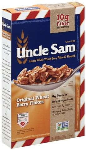 Uncle Sam Original Wheat Berry Flakes Cereal - 13 oz
