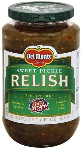 Del Monte Sweet Pickle Relish 22 Oz Nutrition Information Innit
