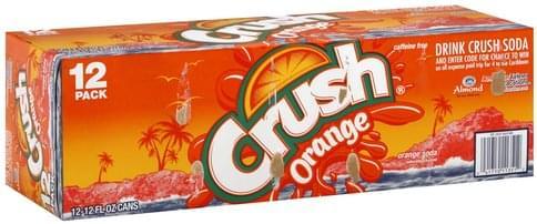 Crush Orange Soda - 12 ea, Nutrition