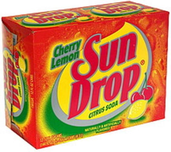 Sun Drop Cherry Lemon Citrus Soda - 12 ea