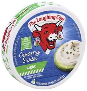 The Laughing Cow Spreadable Cheese Wedges Creamy Swiss, Light