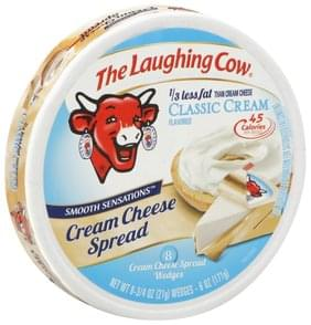 The Laughing Cow Cream Cheese Spread Classic Cream Flavored, Wedges