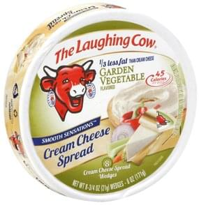 The Laughing Cow Cream Cheese Spread Garden Vegetable Flavored, Wedges