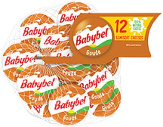 Mini Babybel Gouda Semisoft Cheese - 12